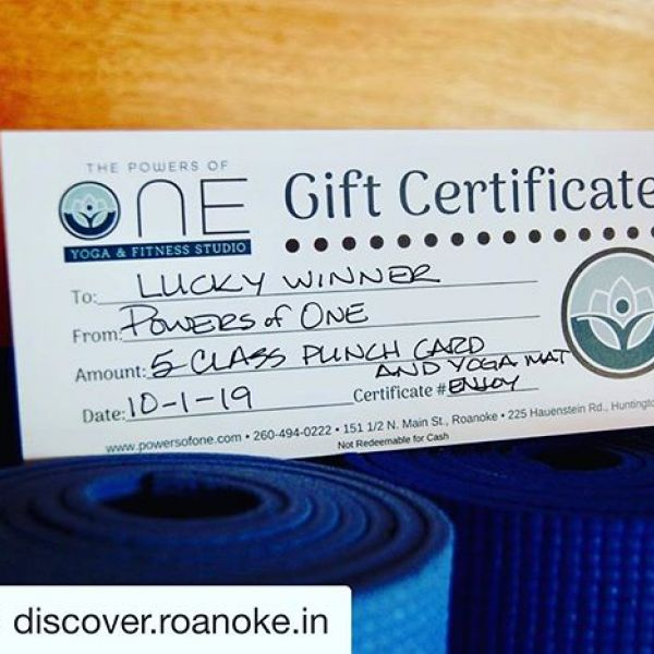 Excited to be doing a  giveaway with our friends at @discover.roanoke.in today! Head over to their post for details on how you can win five free classes and a new yoga mat!