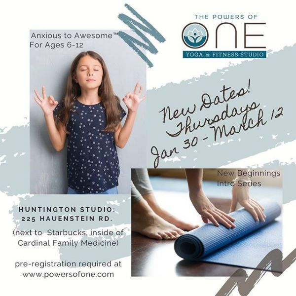 Make a note of the new dates for our New Beginnings and Anxious to Awesome series starting soon in Huntington! Find out all of the details by following the link in our bio and reserve your spot today!  #yoga #yogaseries #youthyoga #kidsyoga #newbeginnings #startsomethingnew #indianayoga #indianayogi #littleyogi #newyogi