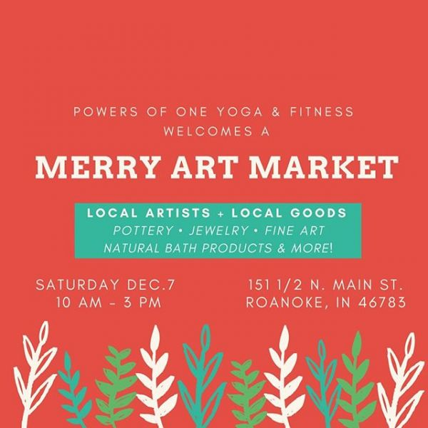 We're so excited to host the Merry Art Market at Powers of One during Roanoke's Christmas in the Village!