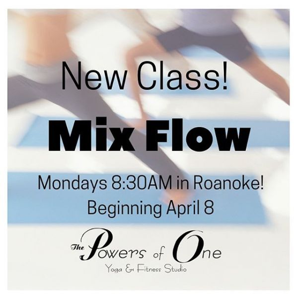 Don't forget that our new class starts tomorrow at 8:30AM with Maggie in Roanoke! This week, see what happens when you prioritize time on your mat. ✌️ #powersofone #powersofoneyoga #yoga #onthemat