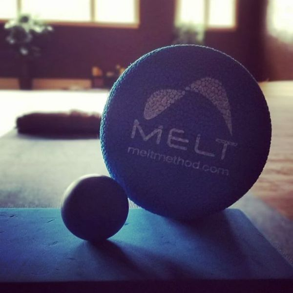 Private session doing MELT and yoga this morning!