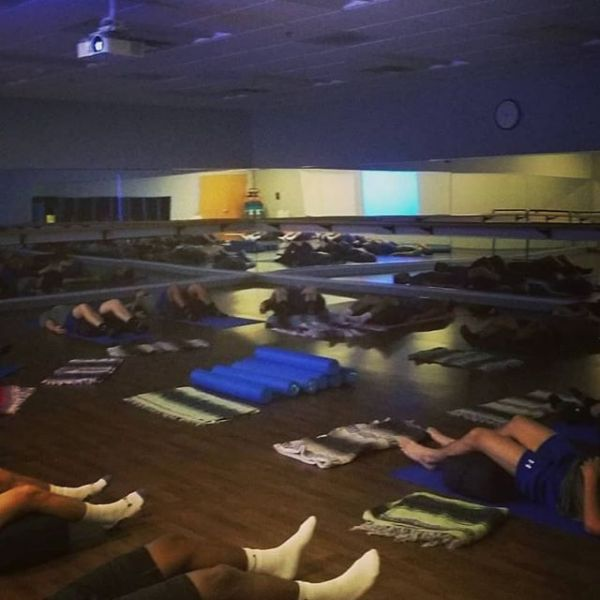 MELT and yoga this morning with the USF Men's soccer team!