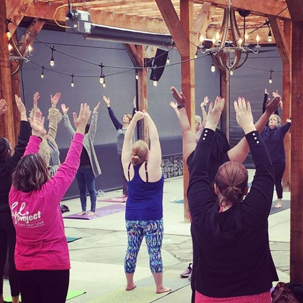 Raise your hands if you love Yoga at the Vineyard!