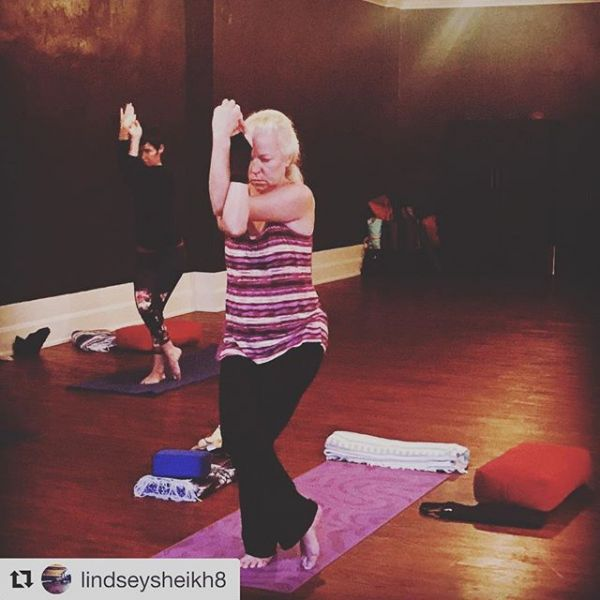 Join Lindsey for All Levels tonight at 5PM in Roanoke!