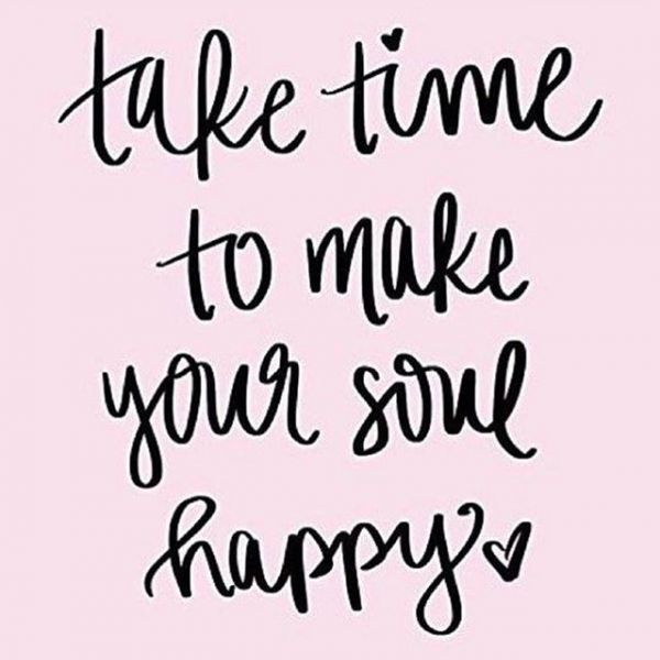 Take time to make your soul happy...may we recommend Saturday morning at 9:30?