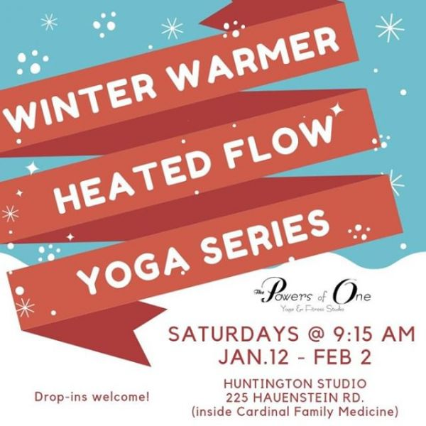 Heat up your practice with our Winter Warmer Series in Huntington! ⠀ #powersofone #powersofoneyoga #yoga #huntingtonindiana #flowyoga